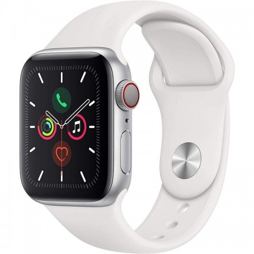 Apple Watch S5 40mm + Cellular Plata con Correa Deportiva Blanca