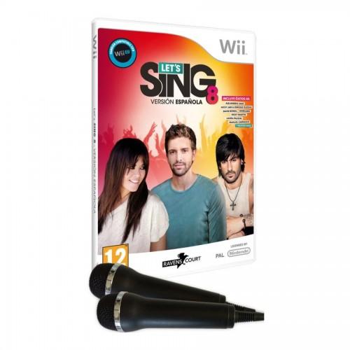 Juego / Lets Sing 8 + 2 Micrófonos / Wii