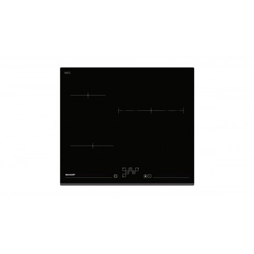 Vitroceramica Sharp KH-6V13BS00 Negro Integrado 60 cm Con placa