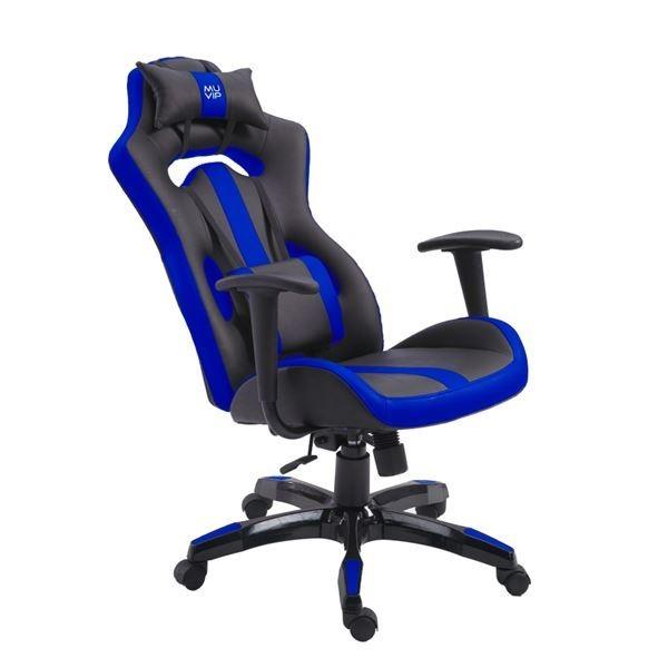 Silla Gaming Muvip MV0233 GM500 Negro/Azul