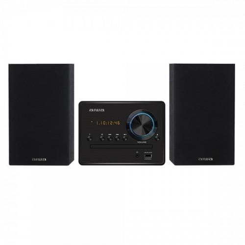 Microcadena Aiwa MSBTU-300 Cd, Bluetooth, Usb Negro