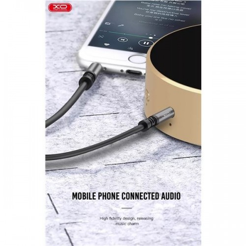 Cable Jack 3.5mm Xo XO-NB121 Aux Mini Jack Audio 1Mt Black