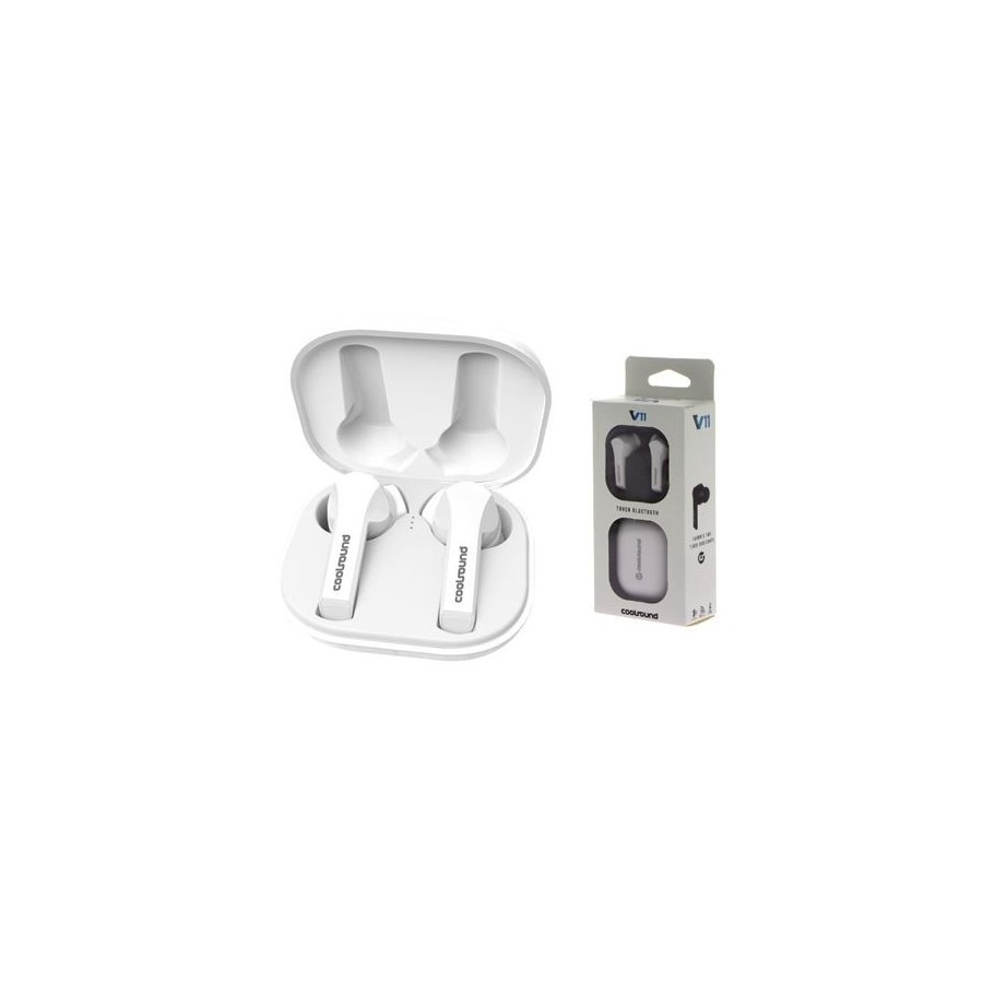 AURICULARES COOLSOUND CS0205 TW V11 TOUCH BT BLANC