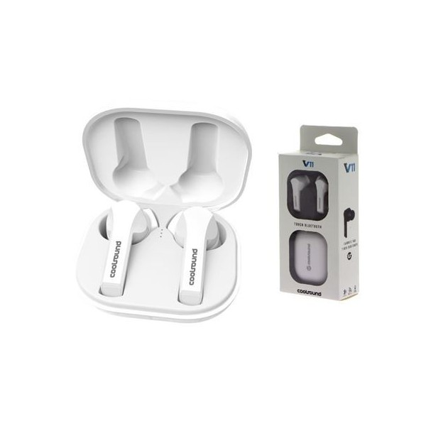 Auriculares Coolsound CS0205 TW V11 Touch Bluetooth Blanco