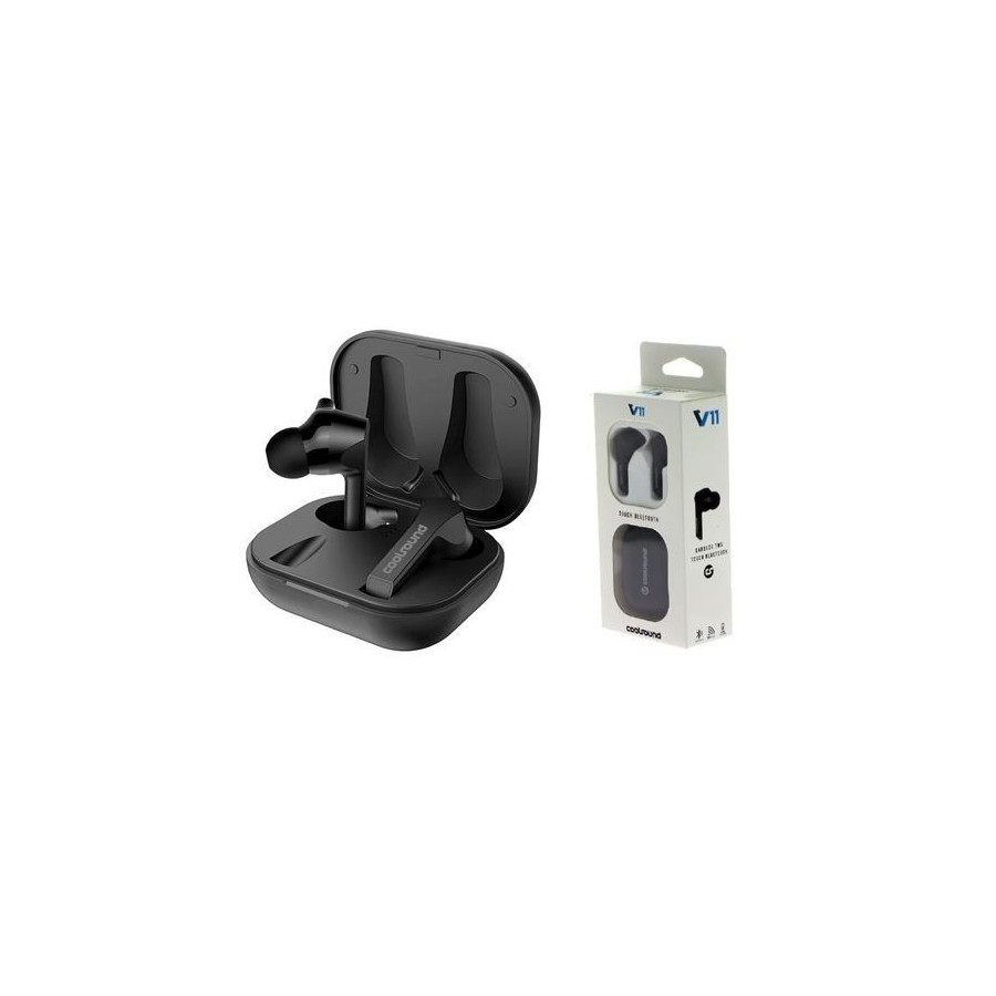AURICULARES COOLSOUND TWS V11 TOUCH BT NEGRO