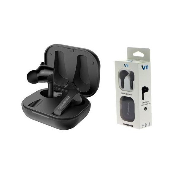 Auriculares Coolsound TWS V11 Touch Bluetooth Negro