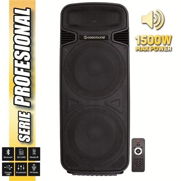 "Altavoz Autoamplificado Coolsound PRO500 2x15"" 1500w Serie Pro"