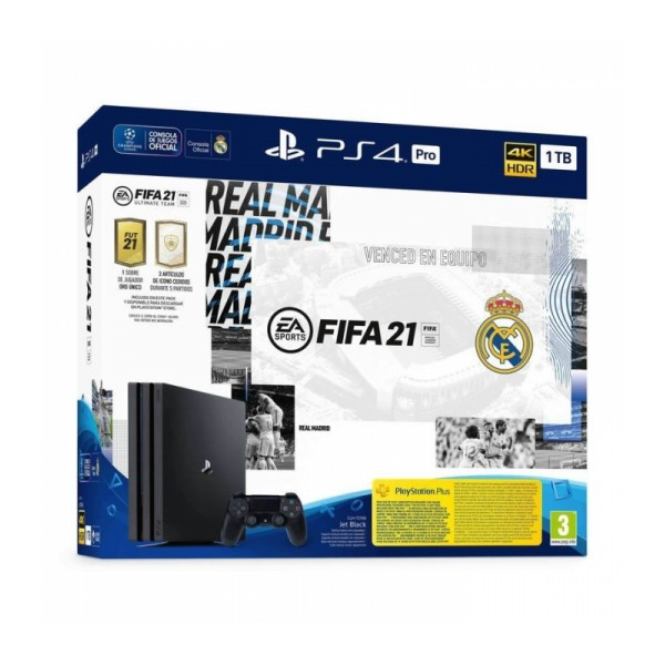 Consola PS4 Pro 1TB Edición Real Madrid + Fifa 21