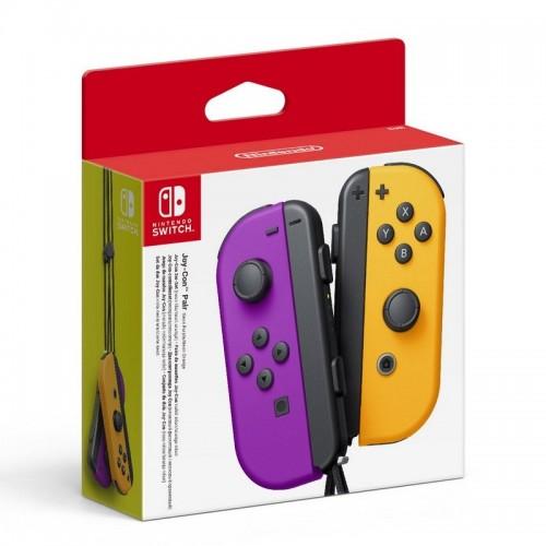 Mando Nintendo Switch Joy-Con Morado/Naranja Neon