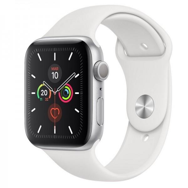 Apple Watch S5 44mm MWD2TY/A Gps Silver Correa White