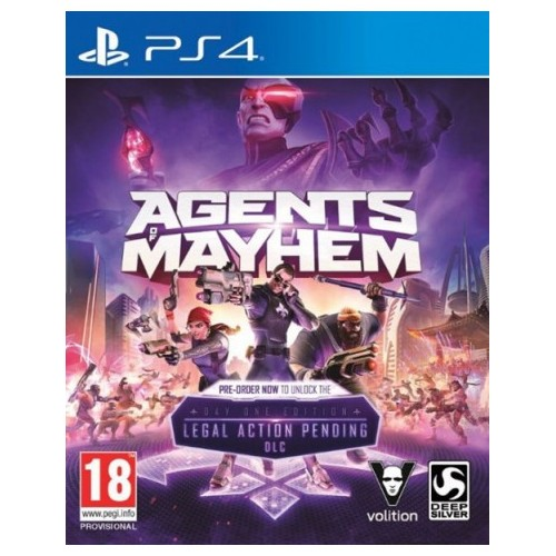 Juego Ps4 Agentes of Mayhem Day One Edition