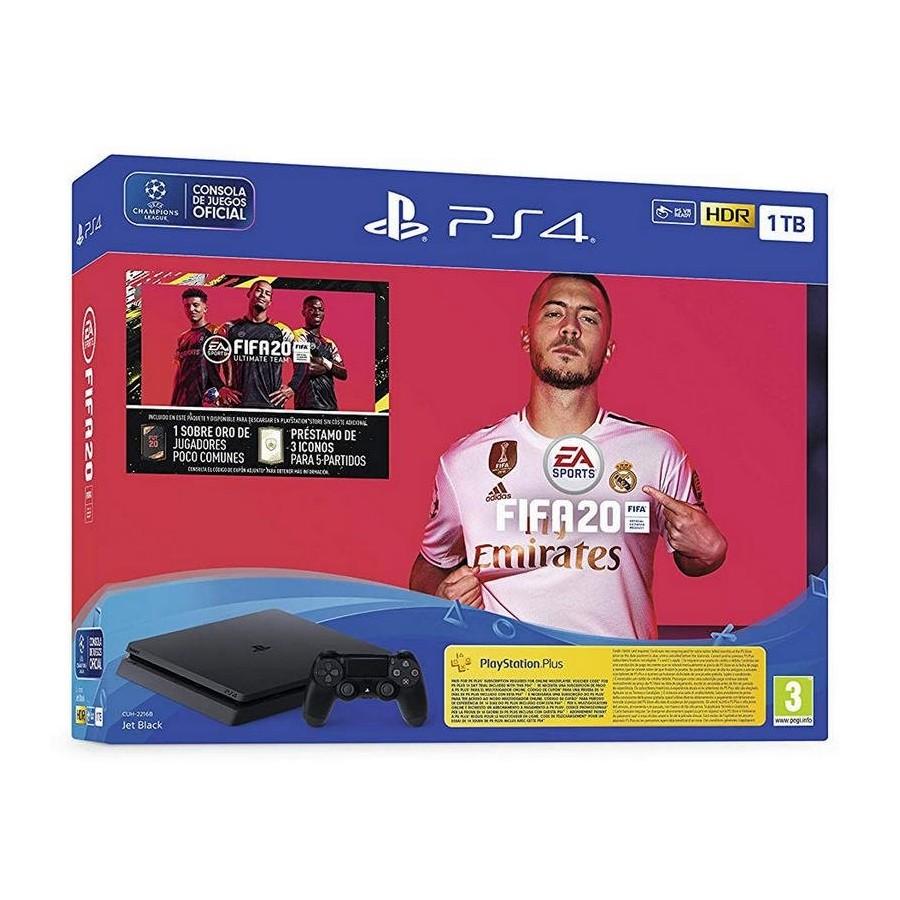 CONSOLA PS4 SLIM 1TB + FIFA 20 + 14 DIAS PS