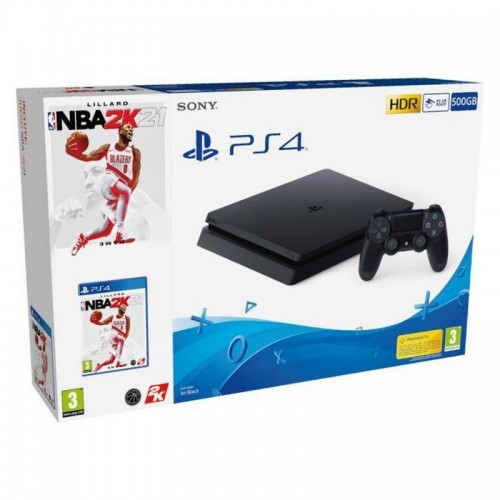Consola Ps4 Slim Black 500GB + NBA 2K21