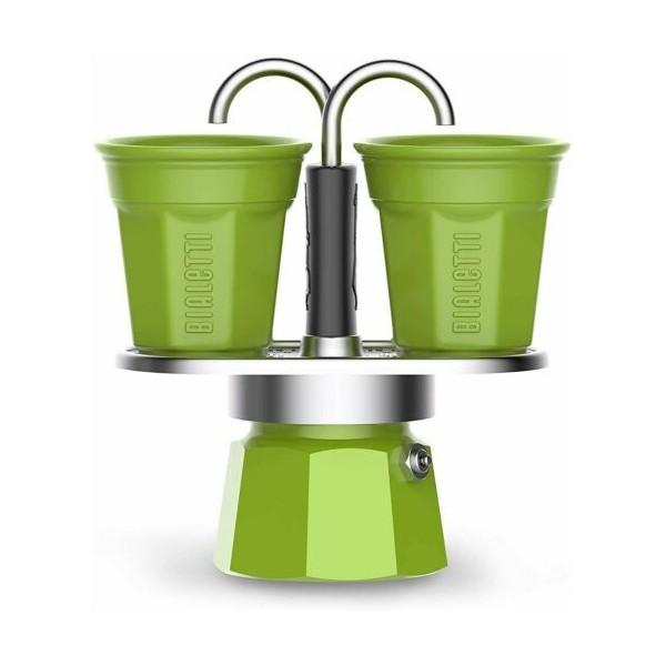 Cafetera Set Mini Express Bialetti 2 Tazas Verde