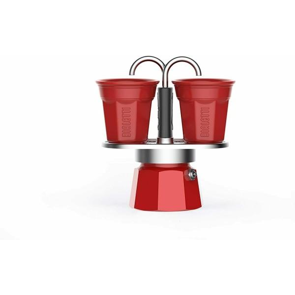 Cafetera Set Mini Express Bialetti 2 Tazas Roja