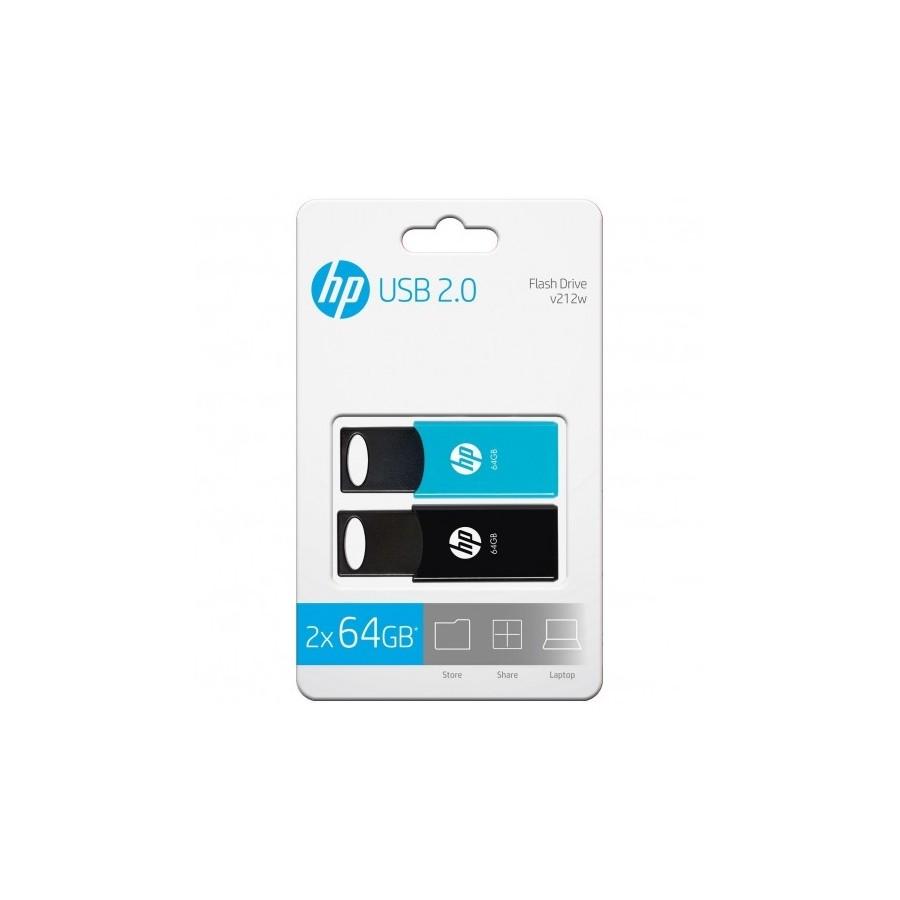 PENDRIVE HP V212W 2x64GB USB 2.0
