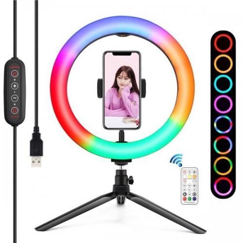 """Kit Youtuber Base + Soporte + Luz RGB 10"""" PL0104"""
