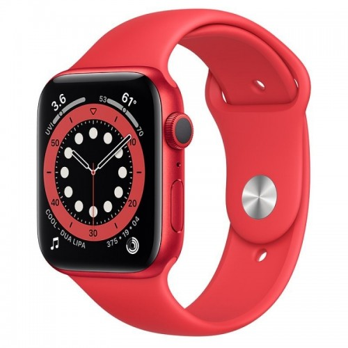 Apple Watch Series 6 GPS 44mm Aluminio PRODUCT RED con Correa Deportiva Roja