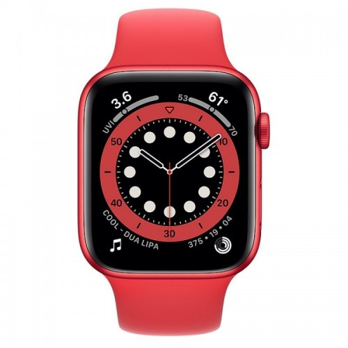 Apple Watch Series 6 GPS 44mm Aluminio PRODUCT RED con Correa Deportiva Roja