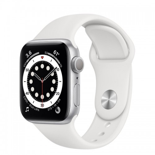 Apple Watch Series 6 GPS 40mm Aluminio en Plata con Correa Deportiva Blanca