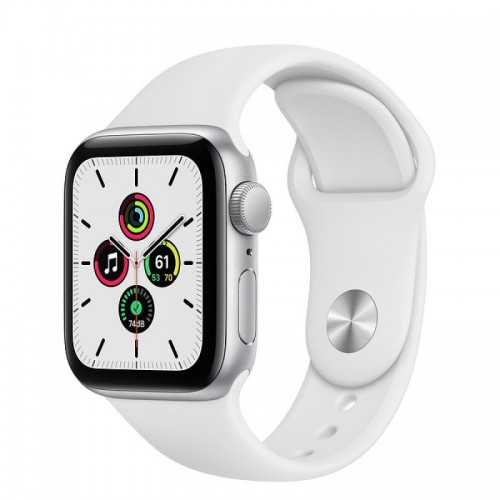 Apple Watch SE GPS 40mm Aluminio Plata con Correa Sport Blanca