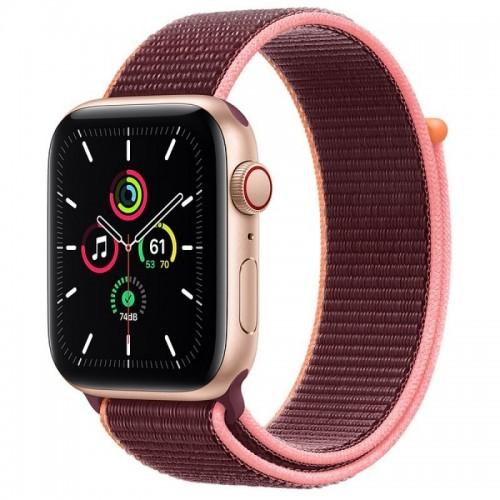 Apple Watch SE GPS + Cellular 44mm Aluminio en Oro con Correa Loop Deportiva Ciruela