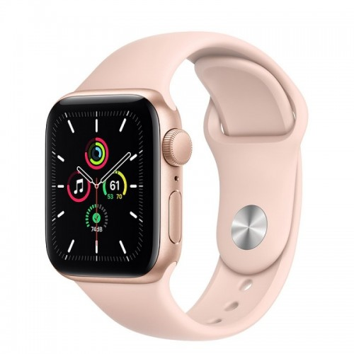 Apple Watch SE GPS 40mm Aluminio Oro con Correa Sport Rosa Arena