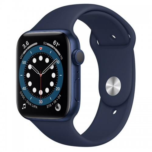 Apple Watch Series 6 GPS 44mm Aluminio Azul con Correa Sport Azul Marino Intenso