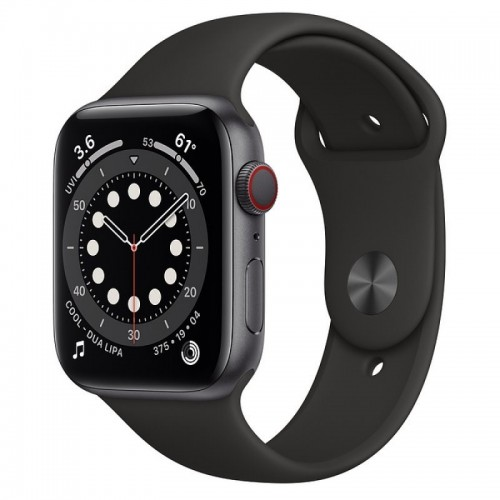 Apple Watch Series 6 GPS + Cellular 44mm Aluminio Gris Espacial con Correa Sport Negra