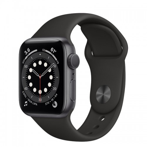 Apple Watch Series 6 GPS 40mm Aluminio Gris Espacial con Correa Sport Negra
