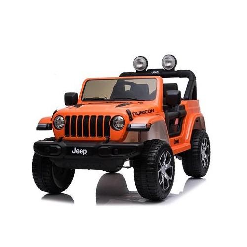 Coche Batería Jeep Wrangler Rubicon Naranja