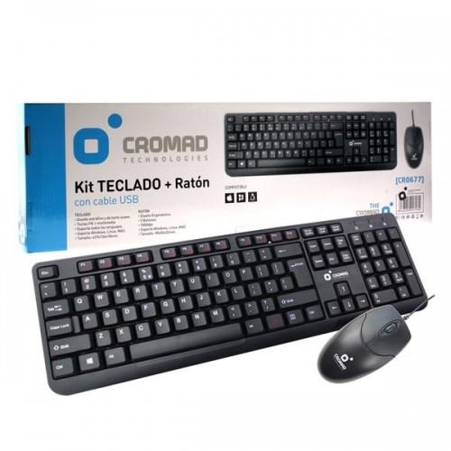 TECLADO + RATON CROMAD CR0677 CABLE USB