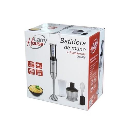 BATIDORA DE MANO LARRY HOUSE LH1655 4PC 1000W INOX