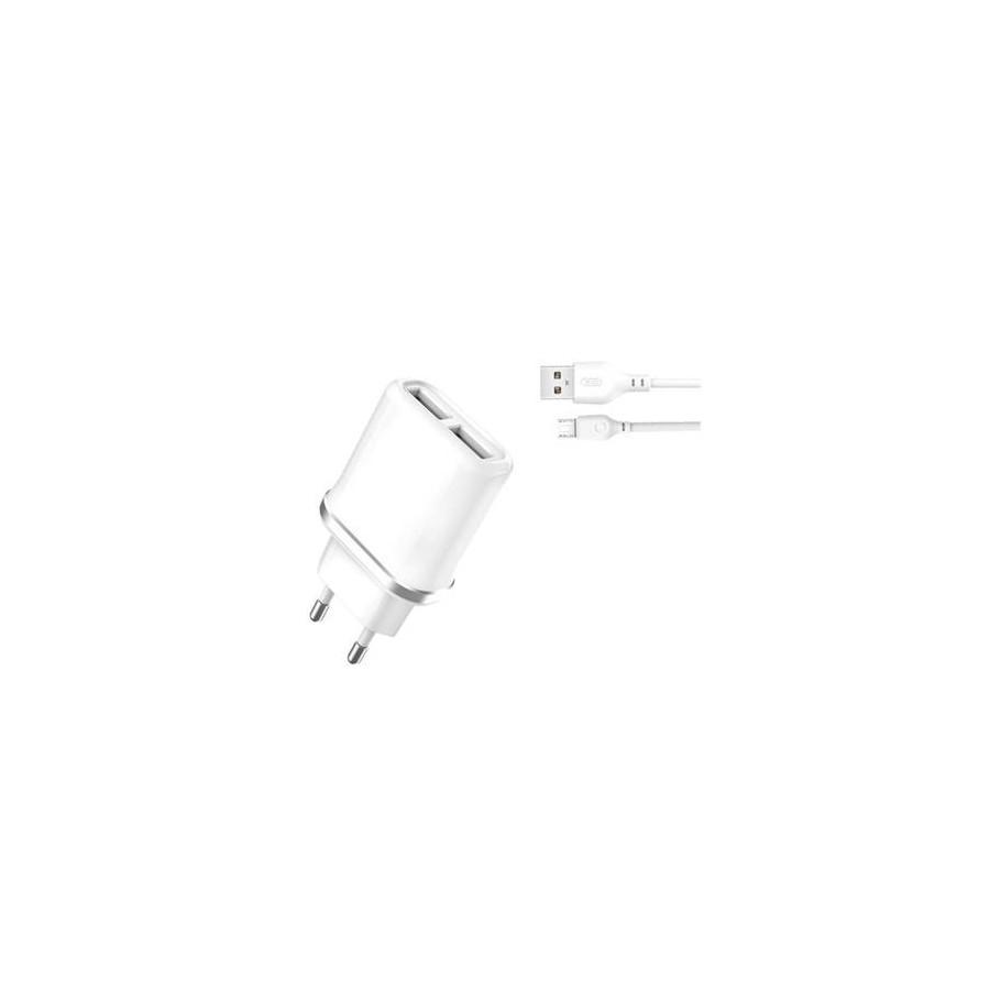 Cargador de Pared XO Micro USB a USB 2.1A Blanco