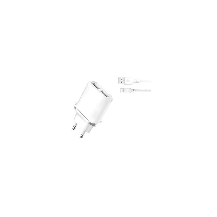 Cargador de Pared XO Tipo-C  A USB 2.1A Blanco