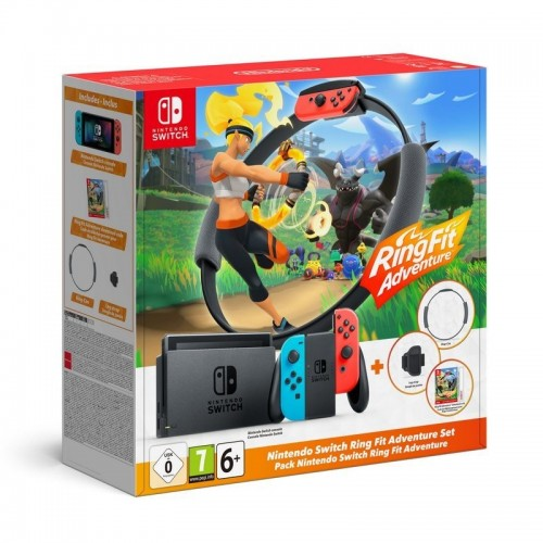 Pack Nintendo Switch Azul Neón/Rojo Neón + Ring Fit Adventure