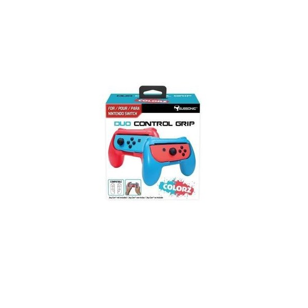 Duo Control Grip Subsonic Colorz Nintendo Switch Blue Red