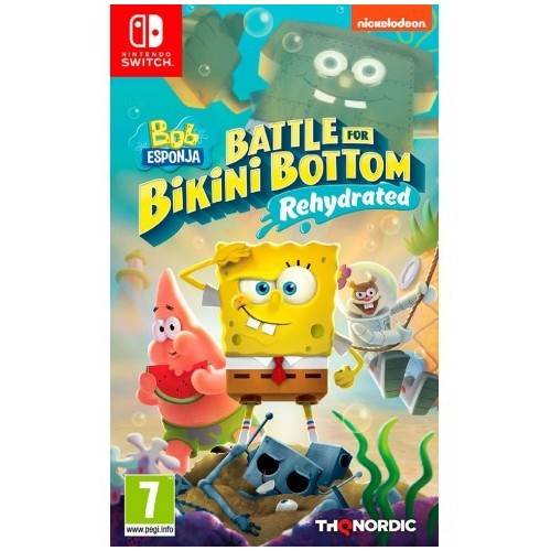 Juego Nintendo Switch Bob Esponja Battle For Bikini Bottom Rehydrated