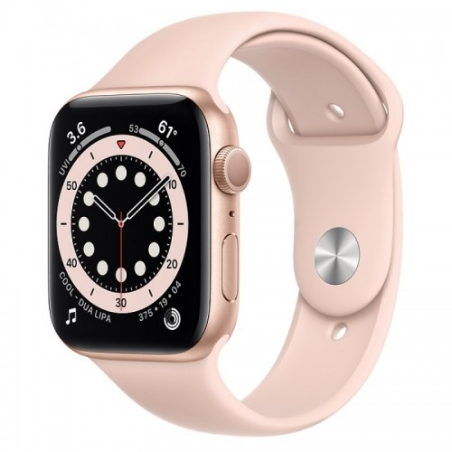 Apple Watch Series 6 GPS 44mm Oro con Correa Deportiva Rosa