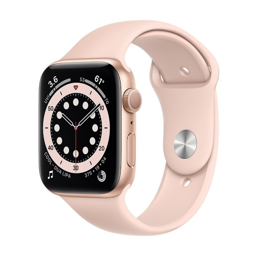 APPLE WATCH S6 44MM GPS GOLD SPORTBAND PINK