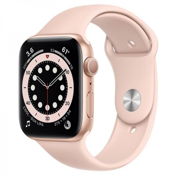 Apple Watch Series 6 GPS 44mm Oro con Correa Deportiva Rosa