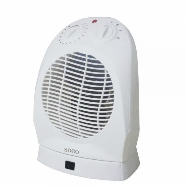 Calefactor Sogo SS-18320 1000w - 2000w Blanco