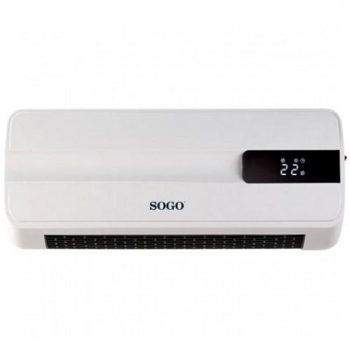 Calefactor Sogo SS-18360 Pared PTC C/Mando 2000w
