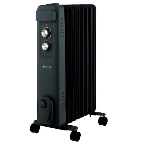 Radiador de Aceite Sogo SS-18460 2000w 9 Elementos