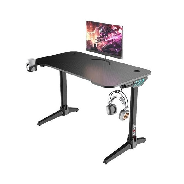 Mesa Gaming Muvip MV0277 PRO500 Luz RGB Fibra Carbono