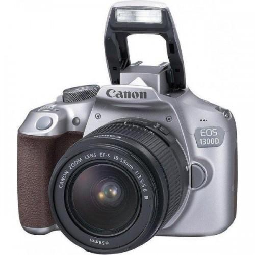Cámara Canon EOS 1300D + 18-55 III DC Color Gris + Funda