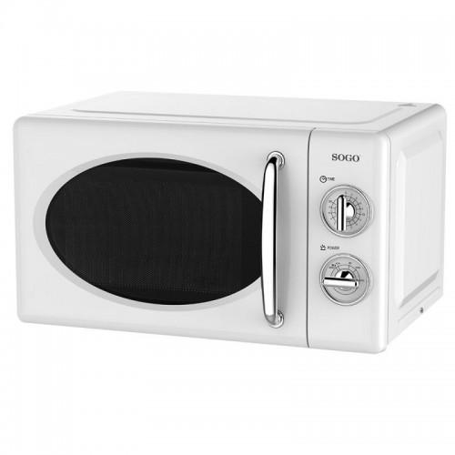 Microondas Sogo SS-890-W 20Lt 700w Retro Blanco