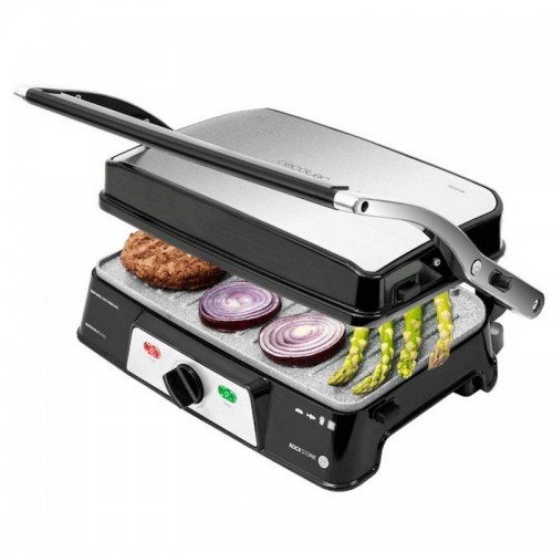 Sandwichera Cecotec Rock'n Grill 1500 Take&Clean 1500w 180º Inox