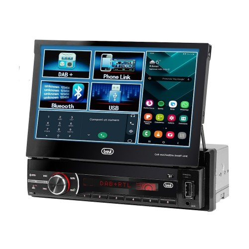 """Trevi MDV 6380 Dab Sistema de Video para Coche con Pantalla Táctil de 7"""" y Bluetooth, Negro"""