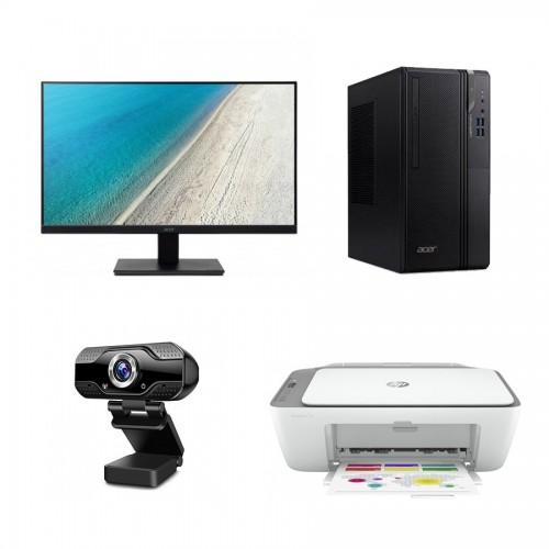 Pack Torre Sobre Mesa Acer + Monitor Acer + Webcam Pro Stima +